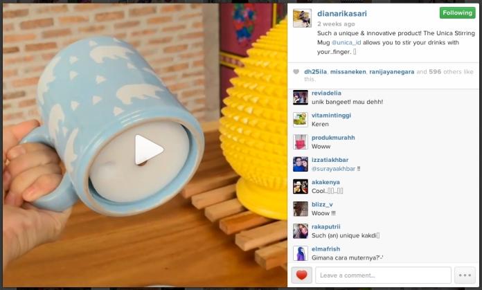 Featured on Diana Rikasari's Instagram!